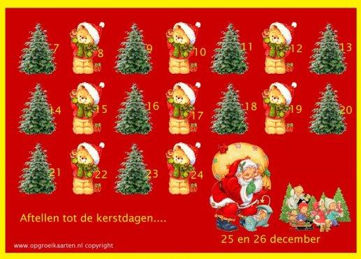 Uitzonderlijk Gratis aftelkalenders - gratisbeloningskaart.nl #ZO96