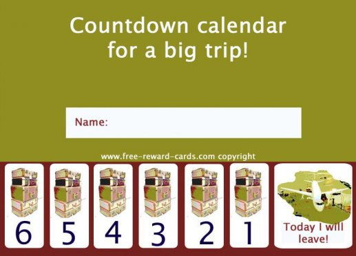 Kids Countdown Calendar : Free countdown calendars website