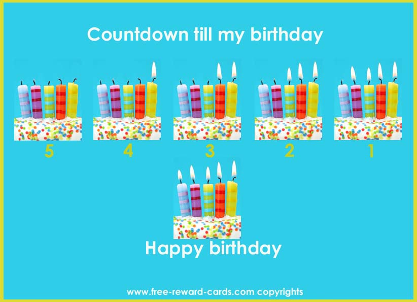 Kids Birthday Calendar : Birthday countdown calendar website