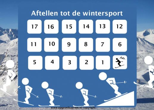 Aftelkalender wintersport kind