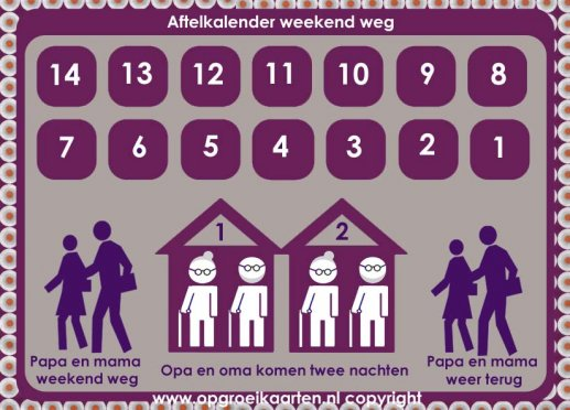 aftelkalender weekend weg