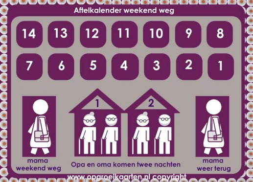 aftelkalender weekend weg mama
