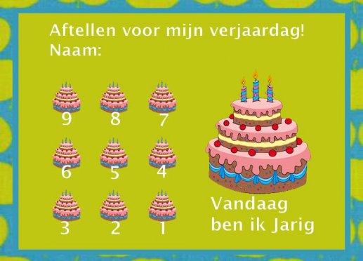Aftelkalender Verjaardag Kind 1 Gratisbeloningskaart Nl