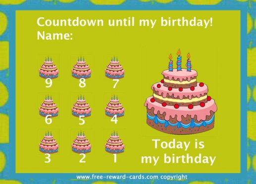 Free Printable Jesus Birthday Countdown Calendar | Calendar Template ...