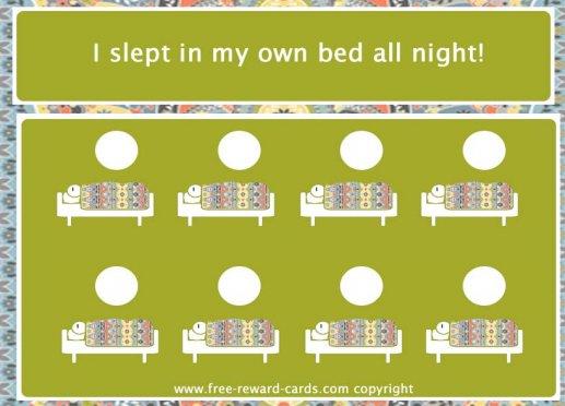 reward card, sleep in own bed - Website