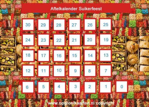 Top Aftelkalender suikerfeest 30 dagen - gratisbeloningskaart.nl EI89