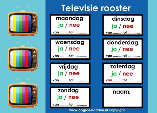 TV weekrooster