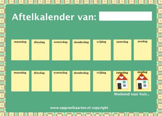 Bekend Gratis aftelkalenders - gratisbeloningskaart.nl @FC07